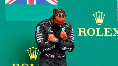Lewis Hamilton pays tribute to Chadwick Boseman after F1 Belgian GP win