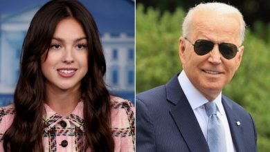 Olivia Rodrigo says Biden gave her a shoehorn and some M&Ms when she visited the White House