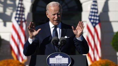 President Joe Biden speaks during a White House event on Monday.